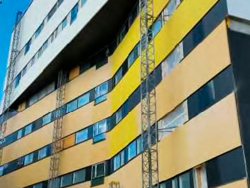TAYS betonin värikorjauksia